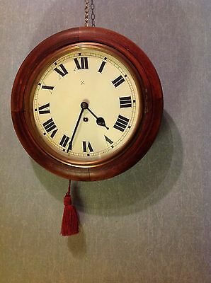 ANTIQUE VICTORIAN (c 1880) GERMAN EIGHT DAY CIRCULAR CASE CLOCK