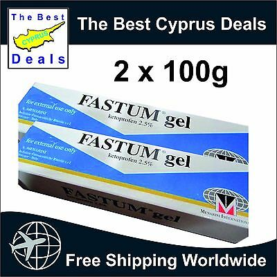 FASTUM GEL 2x100g. RHEUMATIC DISORDERS MUSCLE - JOINT BACK PAIN RELIEVE GEL