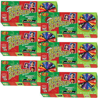 NEW (Set/6) Jelly Belly Bean Boozled Naughty Or Nice Fun Christmas Spinner Game
