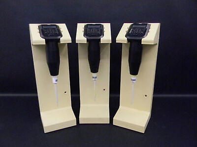 Rainin EDP Electronic Digital Pipettes 100uL (3) w/ (3) Charger Stands