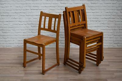 Vintage Stacking Stackable School Church Cafe Bar Chairs 40 AVAILABLE incVAT