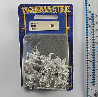 Warmaster HIGH ELF SILVER HELMS (g) Metal Army Blister Pack War Master 1999 K192
