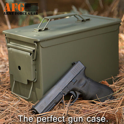 Army Force Gear M2A1 Army .50 cal Metal NEW Ammo Can with laser engraving