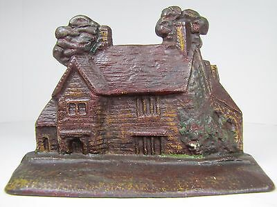 Antique Cast Iron Figural House Doorstop Ancestral Home of George Washington
