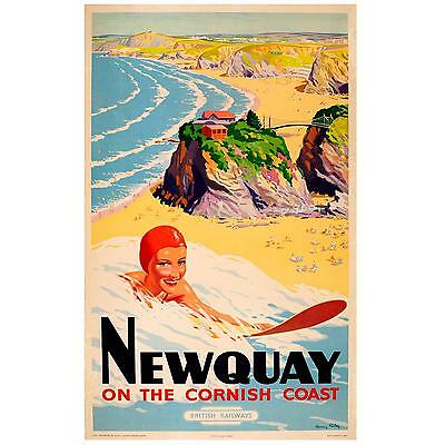 A4,A3,A2,A1 CORNWALL Vintage Travel Poster Home Wall Art Print