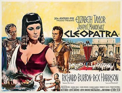 Home Wall Art Print - Vintage Movie Film Poster - CLEOPATRA - A4,A3,A2,A1