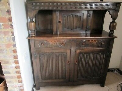 1930's Old Charm Court Cupboard / Sideboard