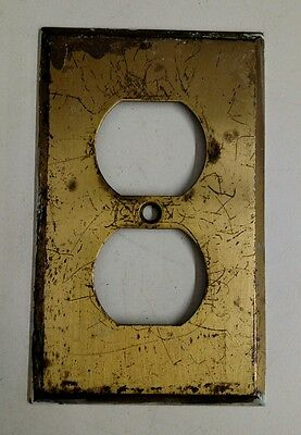Vintage Heavy Duty Brass Double Socket Cover