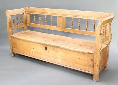 19th Century Antique Pine Settle