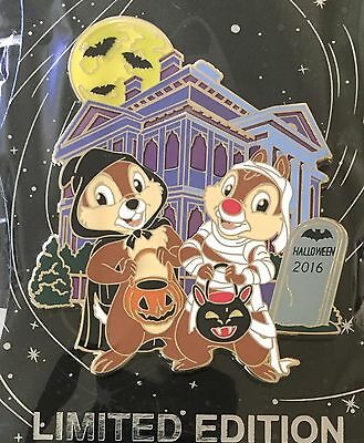 Disney Pin Chip And Dale Haunted Mansion Halloween Wdi Cast Exclusive Le 250