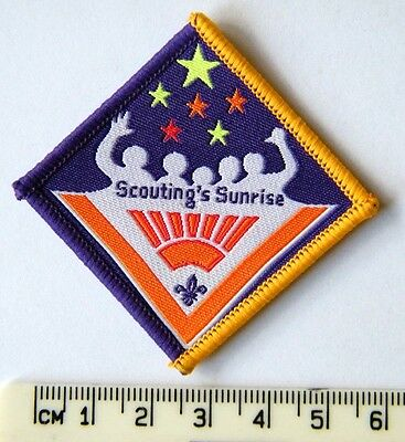 2007 World SCOUTING SUNRISE Join In Centenary Scout Badge, 100 years of Scouting