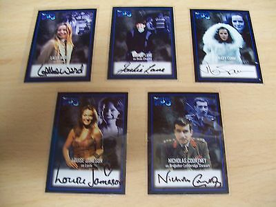 DOCTOR / DR WHO Series 2 various AUTOGRAPH Cards Strictly Ink 2001.