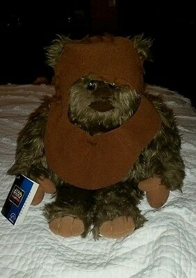 "VINTAGE 1998 14"" Wicket W. Warrick Ewok Plush by Applause STAR WARS Tags!"