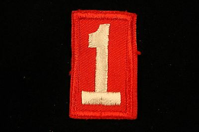 Boy Cub Scout Troop Pack Number # 1 Patch - Red & White - Bsa