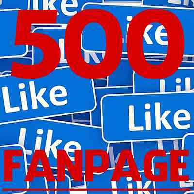 Buy 500 Facebook Like for FAN PAGE - SUPER FAST - CHEAPEST ON EBAY