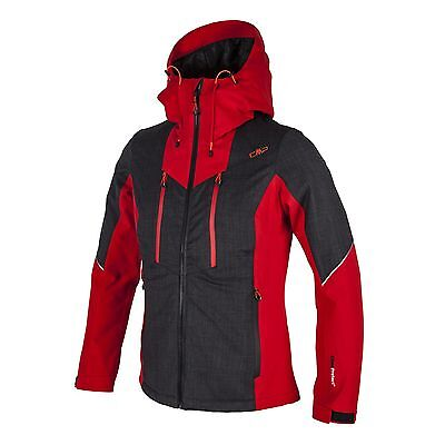 CMP Outdoor jacket Between-seasons Functional red ClimaProtect Wool