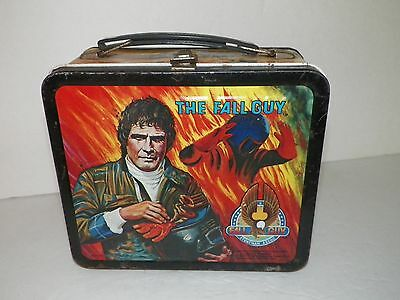 The Fall Guy~Lee Majors~Metal Lunchbox with Complete Thermos Aladdin 1981