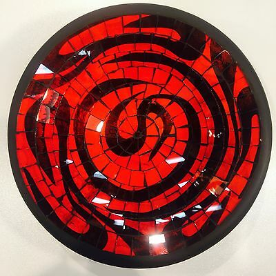 bowl Plate decorative display dish modern Mosaic glass Handmade small decor