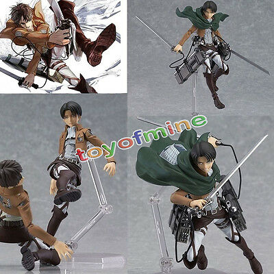 "5.3"" Anime Attack On Titan Levi Shingeki PVC Action PVC Figure #213 No Box"
