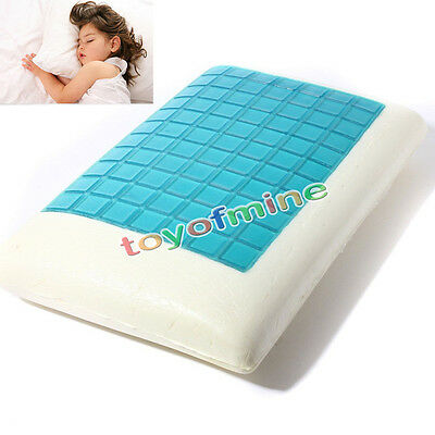 Memory Foam  High Density Cool Gel Pillow Contour Top Layer Cover AU Ship