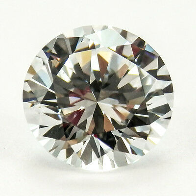 2 x 4mm Round D Color My Russian Diamond Simulated Lab Created Loose Stone