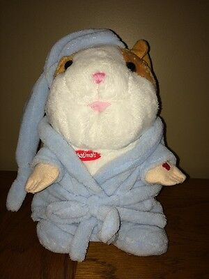 """Chatimals Hamster; Talking, Repeating 10"""" Hamster With Blue Bedtime Robe"""