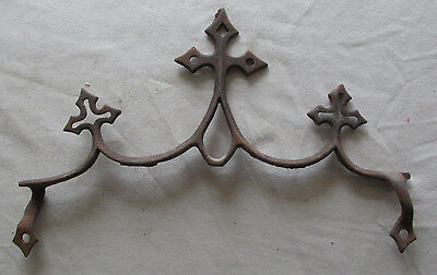 Old Fence Top Victorian Gothic Crosses Iron Rustic Architectural Folk Art Ornate