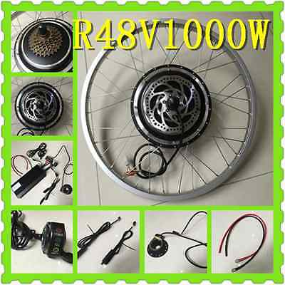 48V 1000W R Electric Bicycle Kits Conversion Motor DISC LCD Brushless PAS EBIKE