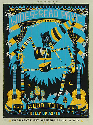 Scrojo Widespread Panic Wood Tour Belly Up Aspen Poster s/n edition of only 70