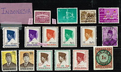 INDONESIA - 1954 MINT+Used stamps & sets till 1974 (Suharto),Ovpts & Surcharges*