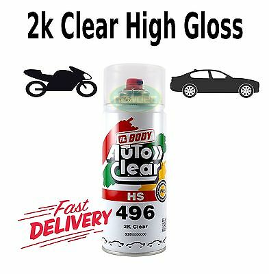 2K Gloss Clear Paint Hs 400Ml High Spray Touch Up Automotive Top Coat Auto Ford
