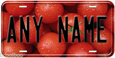 Tomatoes Novelty Car Aluminum Any Name Personalized Auto License Plate