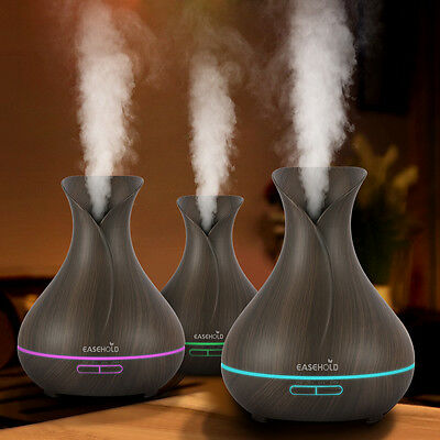 EaseHold Black 400ml Led Ultrasonic Aroma Humidifier Diffuser Purifier Atomizer