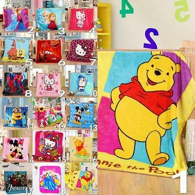 Cartoon Kids Smooth Flannel Blankets Baby Smooth Throws Mats/Rugs Free Shipping