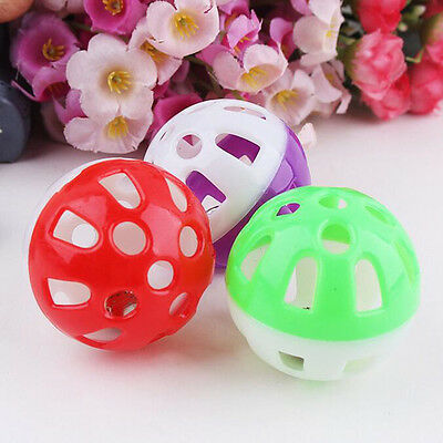 New Plastic Jingle Bell Tinkle Ball Toy for Cat Dog Puppy Chew Fetch Pet Toys
