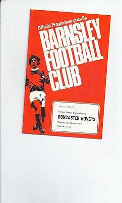 Barnsley v Doncaster Rovers Football Programmes 1973/74