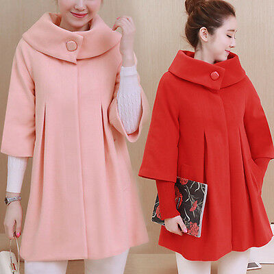 New Winter Maternity Coat Pregnant Woman Long Jacket Warm Outerwear Loose Cloak