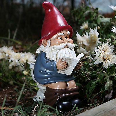 Garden Gnome On A Throne by BigMouth Inc Garden or Indoor Gift  NEW