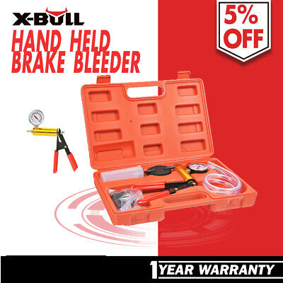 X-BULL Hand Held Brake Bleeder Tester Set Bleed Kit Vacuum Pump Car Bleeding