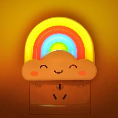 Rainbow LED Night Light Lamp For Baby Kids - Nursery Nightlight Wall Decor Gift