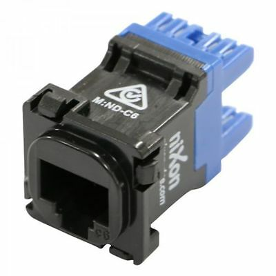 RJ45 - Cat 6 Data Jack - Black