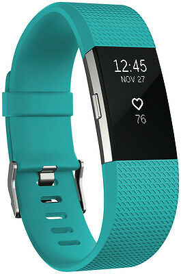 NEW Fitbit 3352726 Charge 2 Teal Silver Large