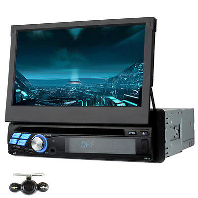"""7"""" 1 Din Android 5.1 Car DVD CD Player Radio GPS Navigation RDS OBD2 with Camera"""