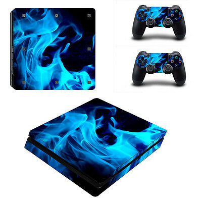 0045* Skin Sticker Vinyl Decal Cover For PlayStation PS4slim Console+Controllers