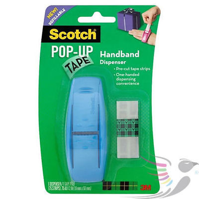 3M Scotch Pop Up Tape Handband Dispenser / Strips / Gift Wrap Presents Parcel