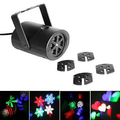 LED Stage Lights Projector RGBW DJ Club Disco Halloween Xmas Party Multi-pattern
