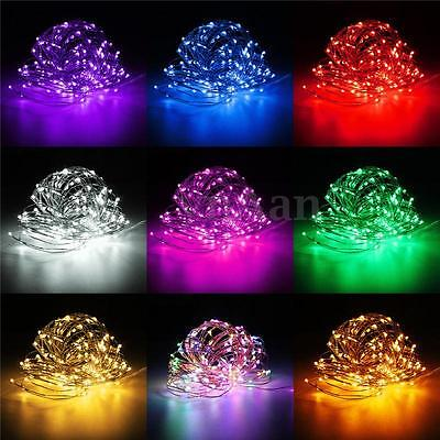 100-200 LED Micro Copper Wire Fairy String Lights Xmas Party Battery/Solar/Plug