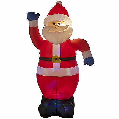 1.8m Luxury Light Up Christmas Santa Claus Indoor Outdoor Inflatable Decoration