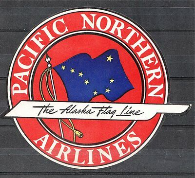 AirLine Luggage Label - Pacific Northern (Alaska) Airlines
