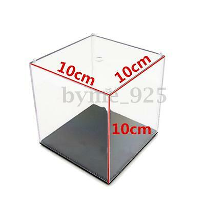 Clear Acrylic Display Box Show Case Dustproof Tray Protection Cube 3.9''x3.9''